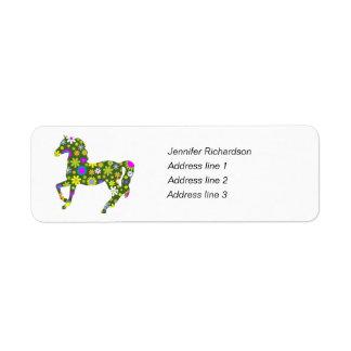 Etiquetas de encargo florales enrrolladas del remi etiquetas de remite
