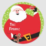 Etiquetas de encargo redondas del regalo de Santa