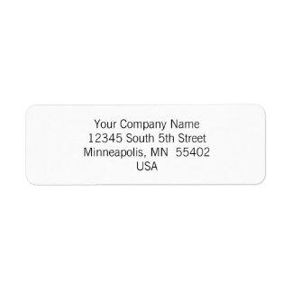 Etiquetas de encargo simples y básicas del remite etiquetas de remite