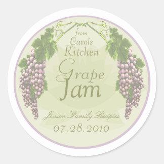 Etiquetas de enlatado B del atasco de la uva