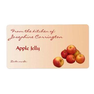 Etiquetas de enlatado de la jalea de Apple Etiqueta De Envío