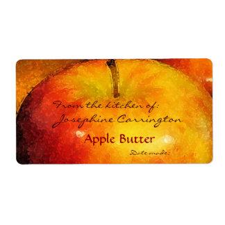 Etiquetas de enlatado de la mantequilla de Apple Etiquetas De Envío