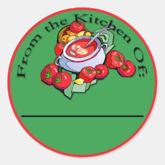 Etiquetas de enlatado de la salsa de tomate