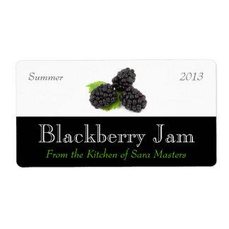 Etiquetas de enlatado del atasco de Blackberry Etiquetas De Envío