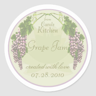 Etiquetas de enlatado del atasco de la uva