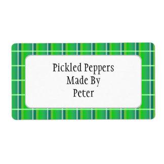 Etiquetas de enlatado del personalizado verde etiquetas de envío