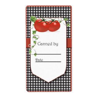 Etiquetas de enlatado del tarro del tomate etiquetas de envío