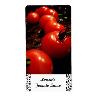 Etiquetas de enlatado del tomate rojo etiquetas de envío