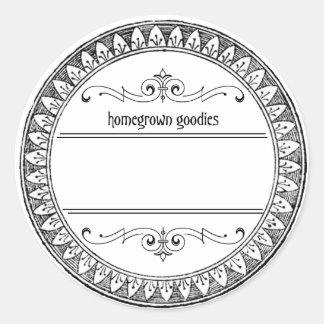Etiquetas de enlatado en blanco del tarro del pegatina redonda