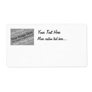 Etiquetas de envío de encargo de la imagen y del t