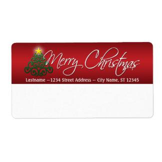 Etiquetas de envío de las Felices Navidad