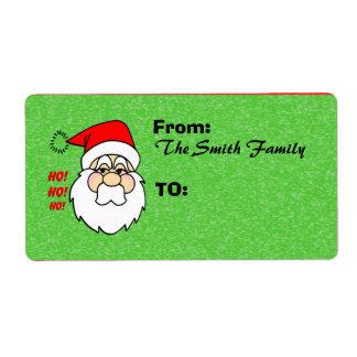 Etiquetas de envío de Papá Noel