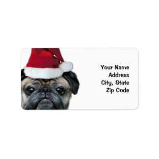 Etiquetas de envío del barro amasado del navidad