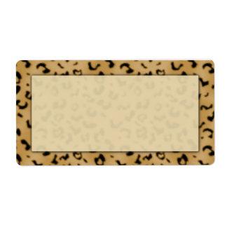 Etiquetas de envío del estampado leopardo