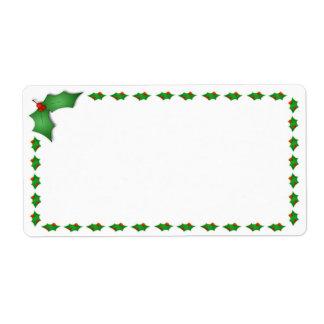 Etiquetas de envío del navidad