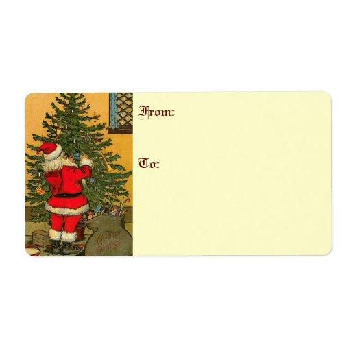 Etiquetas de envío del navidad del vintage