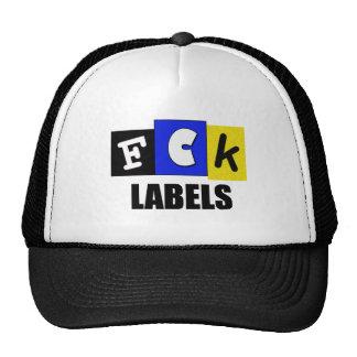 Etiquetas de FCK Gorro De Camionero