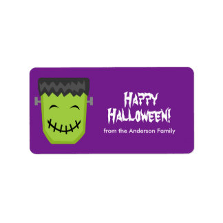 Etiquetas de Frankenstein Halloween Etiqueta De Dirección