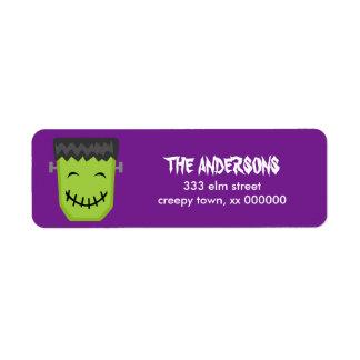 Etiquetas de Frankenstein Halloween Etiquetas De Remite