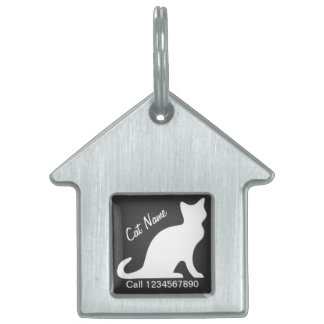 Etiquetas de identificación del gato para la ident placas de nombre de mascota