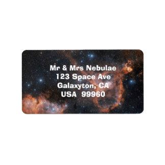 Etiquetas de la astronomía del espacio exterior de etiqueta de dirección