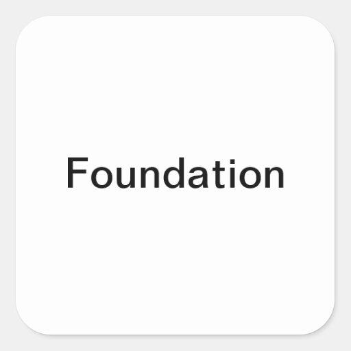 Etiquetas de la botella de la fundación/del pegatina cuadrada