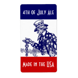 Etiquetas de la cerveza de Homebrewing para las 4t Etiqueta De Envío