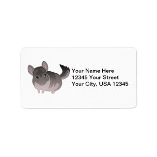 Etiquetas de la chinchilla etiquetas de dirección