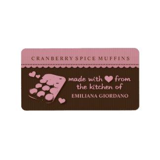 Etiquetas de la cocina del regalo de la comida de  etiquetas de dirección