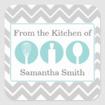 Etiquetas de la cocina del trío de los utensilios