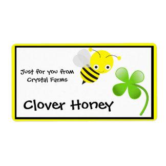 Etiquetas de la comida de la miel etiqueta de envío