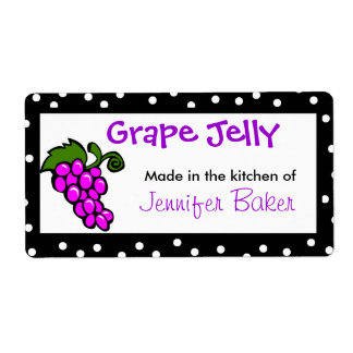 Etiquetas de la comida de la uva de la diversión etiquetas de envío