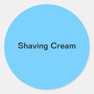 Etiquetas de la crema de afeitar pegatina redonda