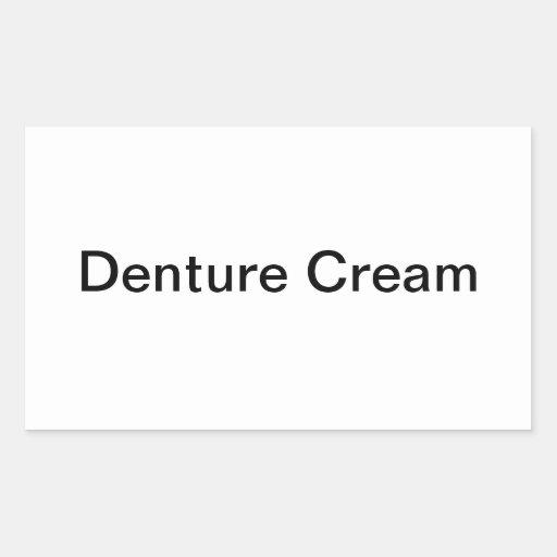 Etiquetas de la crema de la dentadura pegatina rectangular