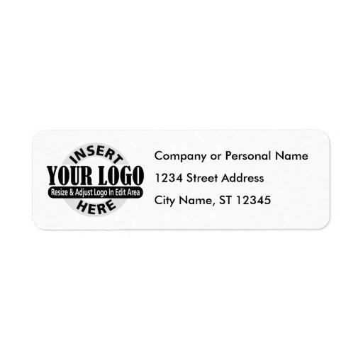 Etiquetas de la dirección comercial etiquetas de remite