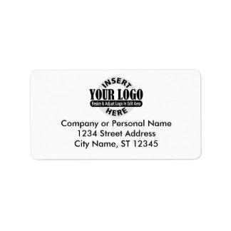 Etiquetas de la dirección comercial etiqueta de dirección