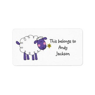 Etiquetas de la escuela (ovejas) etiqueta de dirección