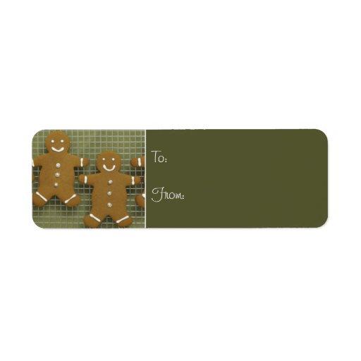 Etiquetas de la etiqueta del regalo de la galleta  etiquetas de remite