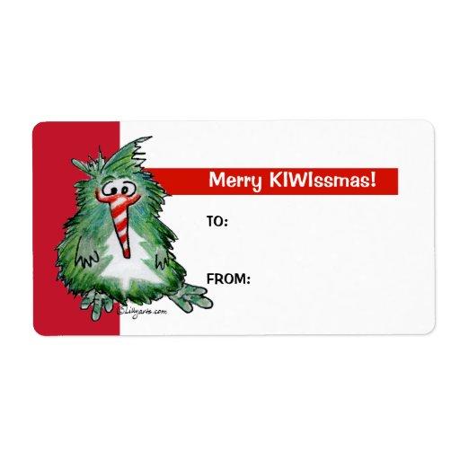 Etiquetas de la etiqueta del regalo del navidad de etiqueta de envío