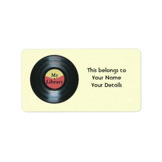 Etiquetas de la etiqueta del regalo del nombre de etiquetas de dirección