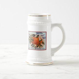 Etiquetas de la fruta de los naranjas de la marca  jarra de cerveza