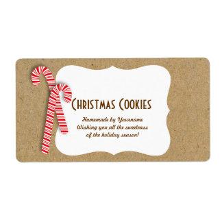Etiquetas de la galleta del día de fiesta para los etiqueta de envío