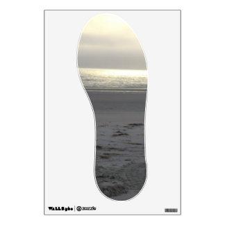 etiquetas de la impresión del pie