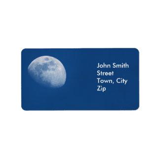 Etiquetas de la luna etiquetas de dirección
