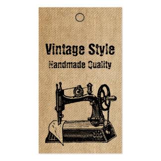 Etiquetas de la máquina de coser del estilo del vi