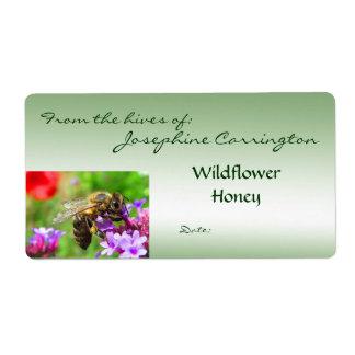 Etiquetas de la miel etiquetas de envío