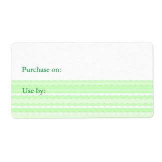Etiquetas de la organización de la comida - verde etiquetas de envío