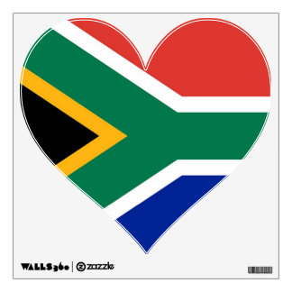 Etiquetas de la pared con la bandera de Suráfrica