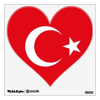 Etiquetas de la pared con la bandera de Turquía