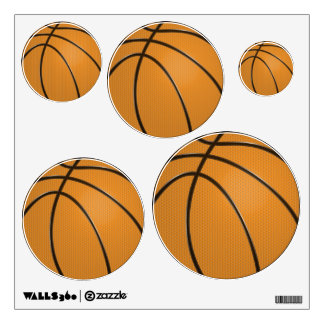 Etiquetas de la pared del baloncesto en 5 tamaños